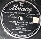 I Don't Care If The Sun Don't Shine/I'm Gonna Paper All My Walls With Love Letters 10' 78 RPM