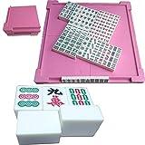Bixialan Set de Mahjong Mini 27mm Tradicional Juego de Mahjong Juego Partido Encuentro de Juegos con Mini Vector for el Partido hogar y el Recorrido para el hogar Fiesta