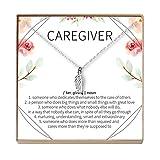 Caregiver Thank You Gift Necklace: Caretaker, Nurse, Attendant, Appreciation, Wing