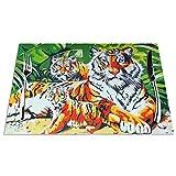 GAHAHA Tovagliette Jungles Tigers Tovagliette Sottobicchieri resistenti al calore Sottobicchieri lavabili Insapore, antiscivolo, Set di 4 tovagliette da cucina