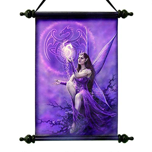Design Toscano Celtic Dragon Fairy Canvas Wall Scroll, Full Color