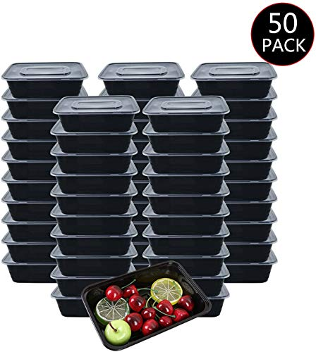 Meal Prep Boxen 1-Fach [50er Pack] Food Container Meal Prep Container Bento...
