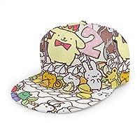 ポムポムプリン (7) ベースボール キャップ野球帽 帽子 アンダーテール キャラ カジュアル スポーツ キャップ 紫外線対策 日よけ 平ひさし帽 登山 釣り ゴルフ 運転 アウトドアなどに 男女兼用