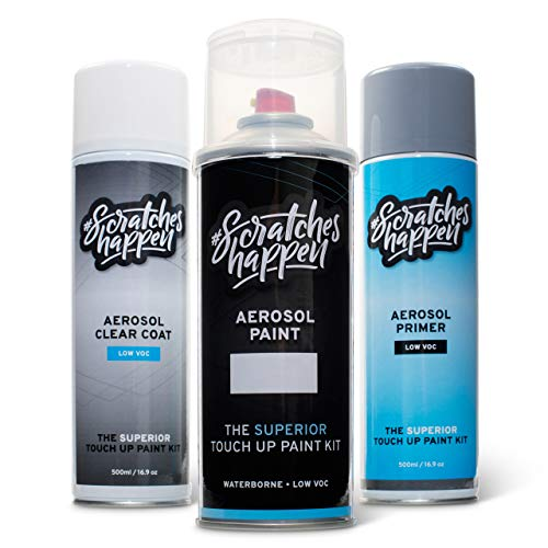 ScratchesHappen Exact-Match Touch Up Paint Kit Compatible with Alfa Romeo Madreperla White (216/A/PWZ) Tricoat - Aerosol, Preferred