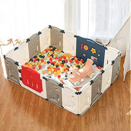 JALAL Playpens - Valla de juegos para niños plegable barandilla recinto interior del hogar parque de atracciones para niños Centro de seguridad