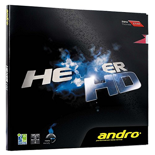 ANDRO Belag Hexer HD, rot, 1,9 mm