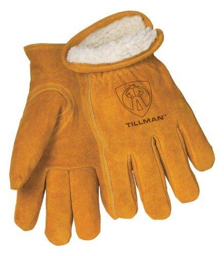 Tillman 1450 Split Cowhide Pile Lined Winter Gloves Large by John Tillman Company
