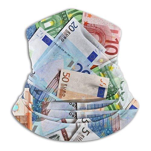 AEMAPE Dólar estadounidense Moneda Dinero Unisex Fleece A prueba de viento Calentador de cuello Calentador de cara Tubo de cuello Bufanda de cuello Polainas de cuello Bandana Negro-6NX