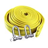 Tow Rope Heavy Duty Tow Strap with Solid Metal Safety Hooks 12T Capacity   Weather Resistant   Woven Polyester Webbing Design for Stronger Security (Color : 12t, Size : 9m)