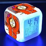 Linster CC Vistoso Despertador Cuadrado Luces De Colores Des