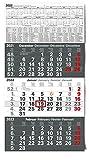 Kalender 3-Monatskalender 2022 Wandkalender groß - Kombi 3 Monatskalender ohne Werbung mit Datumsschieber   Bürokalender Monatsübersicht drei Monate mit Jahresübersicht   XXL 56 x 30 cm (gefalzt!)
