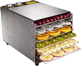 YUNTAO Food dehydrator, Food Dehydrator, Electromechanical Temperature Adjustable Timing Mute with 6 Layers of Stainless S...