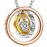 Kami Idea Cadeau de Noel Collier Femme Fantaisie Rose Gold Argent Bijoux Femme...