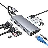 Byttron 11 in 1 USB C Hu with Ethernet, 4K USB to HDMI, VGA, 3 USB 3.0, 1 USB 2.0,...
