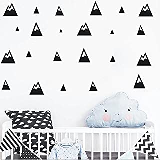 The Boho Design MONTAÃ'A PUNTIAGUDA Wall Vinyl Sticker Decal Decor Nursery. Adhesive Mountains for Kids Baby Nordic Bedroo...