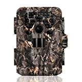 TEC.BEAN Trail Camera 12 MP 1080P Caméra de chasse avec vision nocturne infrarouge jusqu'à 75 pi / 23 m Caméra de surveillance de chasse étanche pour la surveillance de la faune