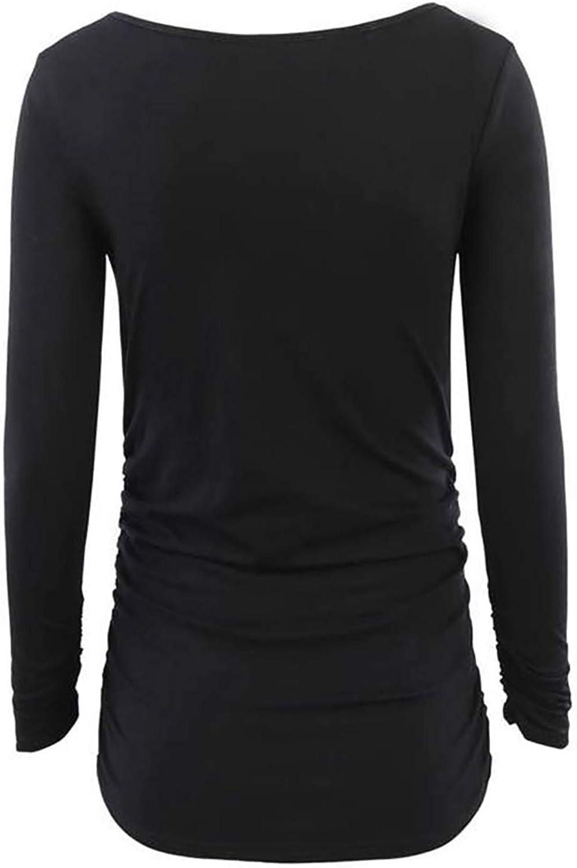 JEATHA Mutterschaft Pullover Rundhal Sweatshirt Langarm T-Shirt Umstandsshirt Baumwolle Unterhemd Mama Bluse Tops Schwangerschaft Umstandsoberteile