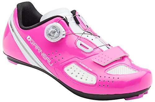 Louis Garneau, Women's Ruby 2 Road Bike Clip-in Cycling Shoes for All Road and SPD Pedals, Pink Glow, US (11.5), EU (43)
