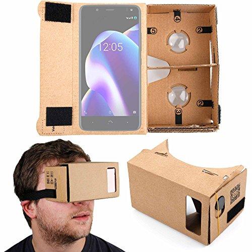 DURAGADGET Gafas de Realidad Virtual VR para Smarphones Smartphone BQ Aquaris U2 (y Lite) | Aquaris U2 | Aquaris V (y Plus)