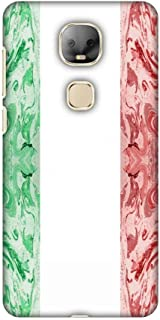 AMZER Slim Fit Handcrafted Designer Printed Snap On Hard Shell Case Back Cover with Screen Cleaning Kit Skin for Leeco Le Pro 3 AI Edition - Italian Marble- Italy Flag HD Color, Ultra Light Back Case