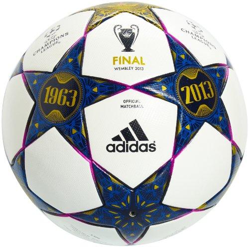 adidas Herren Fußball Finale Wembley Original Match Ball, White/Pantone/Vivid Pink S13, 5, Z20578