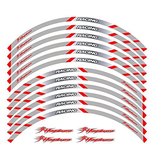 wjyfexble Etiqueta de la Rueda de la Motocicleta Pegatina Raya Rema Reflectante Compatible con Suzuki Hayabusa WYJHN (Color : 2)