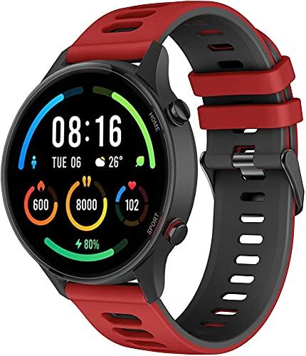 Gransho Pulseira de Relógio compatível com Polar Vantage M, Pulseira de Reposição Esportiva Estreita de Silicone Macio Para Relógio Inteligente (22mm, Pattern 4)