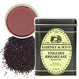 Harney & Sons English Breakfast Black Tea, Loose leaf tea in tin (12132) English Breakfast, loose,...