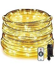 HAUSPROFI 20M 400LEDS kerstverlichting, LED lichtslang met afstandsbediening, 8 lichtstanden en helderheid dimbaar, elektrisch bediend, waterdicht voor binnen / buiten, ideaal voor kerstverlichting, feesten, feesten [energieklasse A +++]
