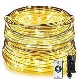HAUSPROFI Tubo Luminoso a LED con Telecomando, Ghirlanda Luce da 20M a 400LED, 8 Modalità di Illuminazione e 10 Livelli Luce, Impermeabile per Interno/Esterno. Decorazione [Classe di efficienza A+++]