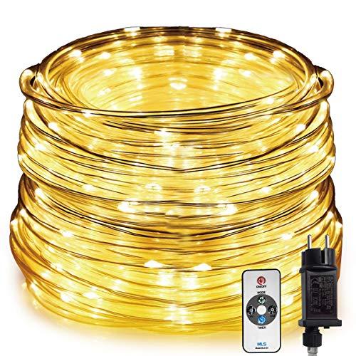 HAUSPROFI 20M 400LEDS Lichterkette, LED Lichtschlauch mit Fernbedienung, 8 Leuchtmodi und Helligkeit dimmbar, Strombetrieben,Wasserdicht für...