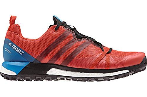 adidas Terrex Agravic GTX, Zapatillas de Trail Running para Hombre, Rojo (Roalre/Negbás/Azubri 000), 38 2/3 EU