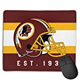 Marrytiny Custom Colourful Mouse Pad Washington Redskins Football Team Natural Rubber Mousepad Stitched Edges - 7.08x8.6 Inches