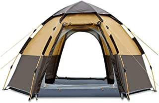 Tent خيمة السداسية التلقائية 5-8 الناس خيمة مع قاعة القطب خيمة سوبر المعطف للمشي في الهواء الطلق المشي لمسافات طويلة وتسلق...