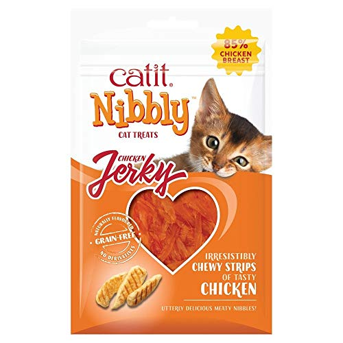 Comida Seca para Gatos Catit Catit Nibbly Jerky, Pollo, 30g