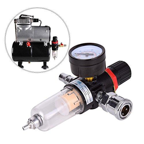 """Hotgod 1/4 \""""BSP Filtro de Aire Regulador Compresor Humedad Trampa Aceite Lubricador Agua para Compresor y Herramientas de Aire"""