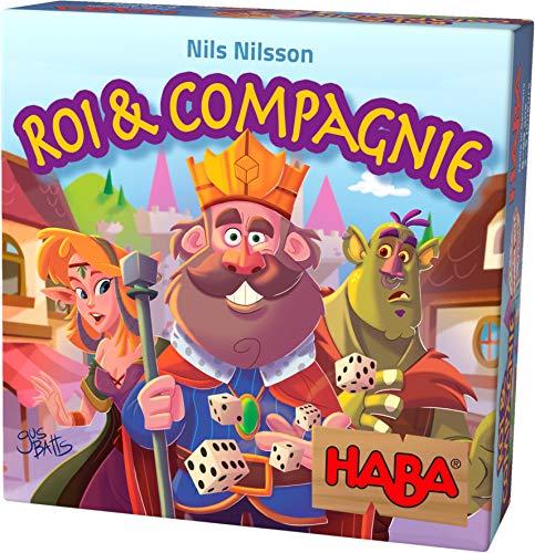 HABA Roi & Compagnie, jeu de hasard délicat pour 2 à 5 joueurs, à partir de 8 ans, jeu de société passionnant pour toute la famille, 303486
