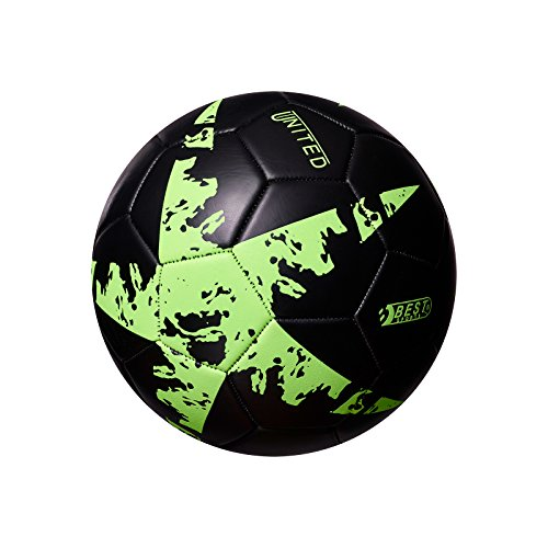 Best Sporting Fußball Glow In The Dark, Farbe:schwarz/grün