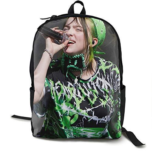 Billie Eilish plecak do szkoły na uczelnię studencka torba na książki biznes laptop podróż klatka piersiowa paski nocne światło odblaskowe