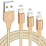 iPhone Charger, Apple MFi Certified, ilikable 3 PACK 3/6/10FT Nylon Braided Lightning Cable, Durable iPhone Charging Cord Compatible with iPhone 11 Pro Xs Max XR X 8 8Plus 7 7Plus 6 6s SE iPad Air Pro