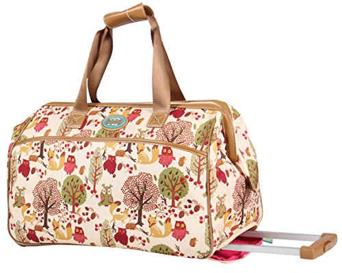 Lily Bloom Wheeled Duffel Bag (14in, Forest)