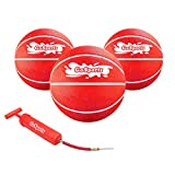 GoSports Swimming Pool Basketballs 3 Pack - Great for Floating Water Basketball Hoops, Red (Balls-BB-Pool-RED-3)
