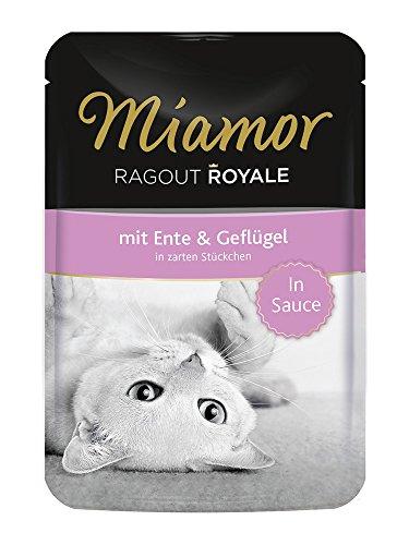 Miamor Katzenfutter Ragout Royal Ente+Geflügel 100 g, 22er Pack (22 x 100 g)