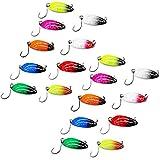 LiGG LiGG Forellenköder Bunt mit Einzelhaken Trout Spoon Set Spinnfischen Kunstköder Forellen Blinker Forellen Köder für Hecht Forelle Zander Barsch 3,3cm/3g, 18 Stück