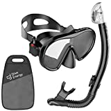 2020 Dry Top Snorkel Set with Adjustable Dual Strap - Enjoy Swimming, Snorkeling & Scuba Diving with Anti-Fog Tempered Glass Mask & No Leaks Dry Top Snorkel & Silicone Mouth Piece + Bag