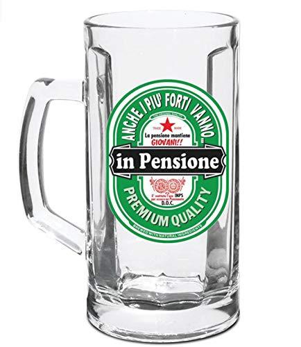 Jarra de cerveza para la jubilación