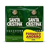 Café Santa Cristina - Café Molido de Tueste Natural tradicional de Málaga - Paquete de 2x250g - Total: 500 g