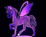 Touch Fernbedienung Nachtlicht Pferd Tischlampe Familie Dekoration Weihnachten Kinder Mädchen
