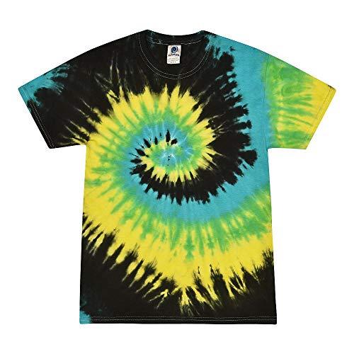 Colortone - Camiseta batik unisex «Swirl» Tropical Breeze. XL