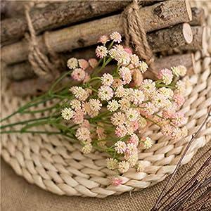 Silk Flower Arrangements AIPZDJ 3 Pcs Baby's Breath Artificial Flowers Fake Gypsophila Flower Bouquets Plastic Flower for Wedding Party Home Decor Flower Arrangement,Pink